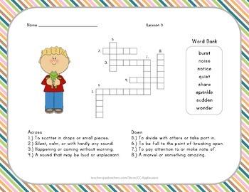 Crossword Puzzle - Teacher's Pets - Journeys Aligned