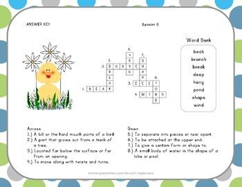 Crossword Puzzle - Animals Building Homes - Journeys Aligned