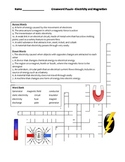 Middle School Physical Science Crossword Puzzle - Electricity and Magnetism