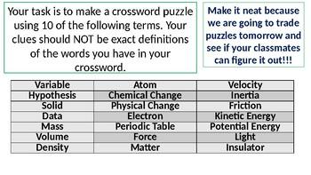 Crossword Puzzle Activity