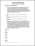 Crossword Puzzle Activity Template and Rubric