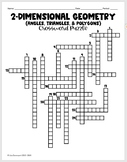 Crossword Puzzle (Angles, Triangles, & Polygons)