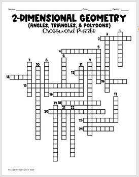 Crossword Puzzle (Angles, Triangles, & Polygons) by Lisa Davenport ...