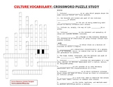 Crossword Puzzle & Answer Key