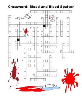 Crossword Puzzle: Blood and Blood Spatter