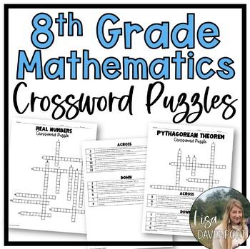 Crossword Puzzle Bundle for 8th Grade Math/ Pre-Algebra