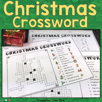 Crossword Puzzle - Christmas Game