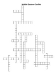 Crossword Puzzle - Conflict in the Middle East