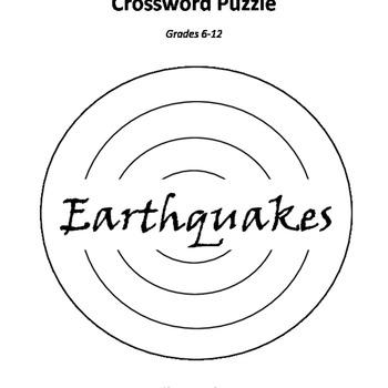 Crossword Puzzle (Earthquakes)