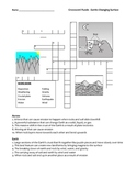 Middle School Earth Science Crossword Puzzle - Earth's Changing Surface