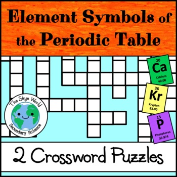 Crossword Puzzle - Element Symbols and Names