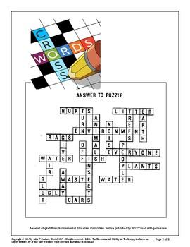 Crossword Puzzle - Environment