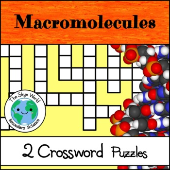 Crossword Puzzle - Macromolecules + More Macromolecules