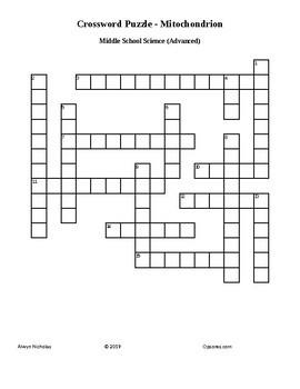 Crossword Puzzle: Mitochondrion (Advanced)