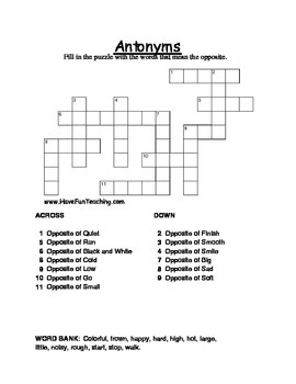 Crossword Puzzle Pack - 18 Themed Crossword Puzzles