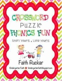 Crossword Puzzle Phonics Fun Set 1