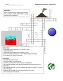 Middle School Earth Science Crossword Puzzle - Planet Earth