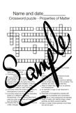 Crossword Puzzle: Properties of Matter