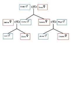 Spanish Vocabulary - Family Relationships Crossword Puzzle