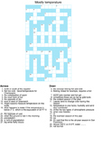 Crossword Puzzle - Temperature
