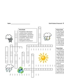 Middle School Earth Science Crossword Puzzle - The Atmosphere