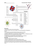 Middle School Physical Science Crossword Puzzle - The Atom