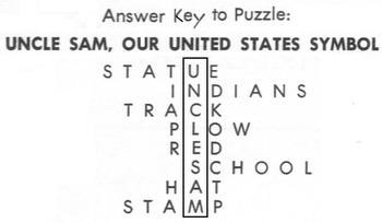 Crossword Puzzle: UNCLE SAM, UNITED STATES SYMBOL - Social Studies - Patriotic