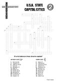 Crossword Puzzle: USA State Capitals No.2