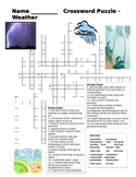 Middle School Earth Science Crossword Puzzle - Weather
