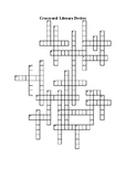 Crossword Puzzle and Word Search, with Answers: Literary Devices