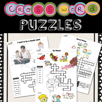 Crossword Puzzle for kids No Prep