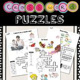 Crossword Puzzle for kids No Prep