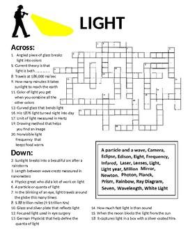 Crossword Puzzle on Light