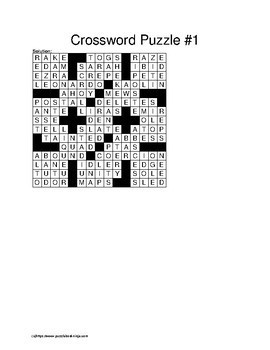 Crossword Puzzles - 200 Newspaper Styled Puzzles