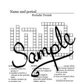 Crossword Puzzles: Periodic trends, Periodic Table Organization