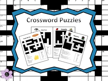 Crossword Puzzles - Vocabulary and Spelling