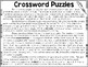 Crossword Puzzles - Weekly Reading Passage and Questions