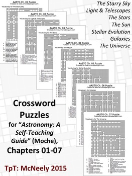 "Crossword Puzzles for ""Astronomy"" A Self-Teaching Guide"" (Moche): Ch. 01-07"