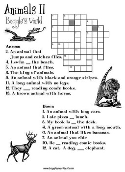 Crossword Puzzles for EAL/ESL students to teach language skills