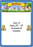 Crossword Puzzles for Year 5 Term 3 spelling lists