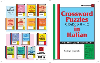Crossword Puzzles in Italian, Grades 6-12