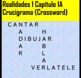 Crossword Realidades 1 Chapter 1A Vocab