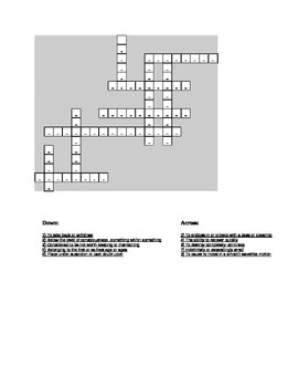 "Crossword ""Sound of Thunder"" Vocabulary"