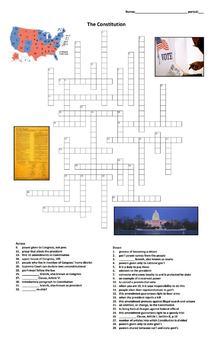 Crossword: The Constitution