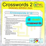 Classic crosswords (distance learning crosswords with dict