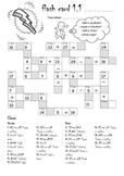 Crossword format Math Activity Worksheets