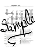 Crossword puzzle: Naming binary molecular compounds
