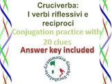 Crossword puzzle reflexive and reciprocal verbs I verbi reciproci e riflessivi