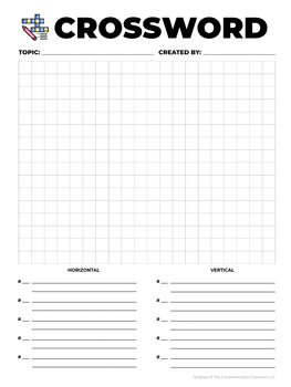 Form: Crossword puzzle template
