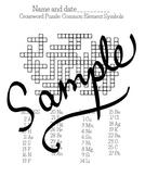 Crosswords: Common element symbols and atomic number/proto